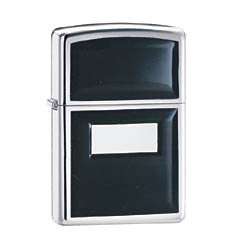 ZIPPO 355 ULTRALITE BLACK HP CHROME LIGHTER