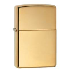 ZIPPO 254B HIGH POLISH SOLID BRASS LIGHTER