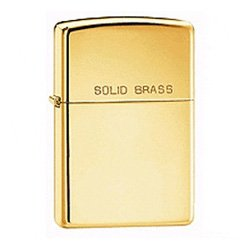 ZIPPO 254 HIGH POLISH SOLID BRASS LIGHTER