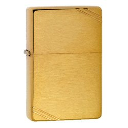 ZIPPO 240 VINTAGE BRUSHED BRASS LIGHTER