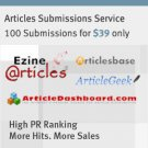 Article Submissions 100 x links from relevant content @$35 -10% OFF