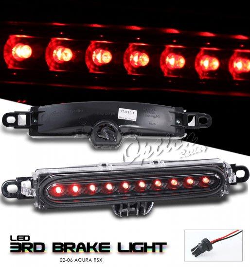 Option: 02-04 Acura RSX LED 3rd Brake Light (Black)