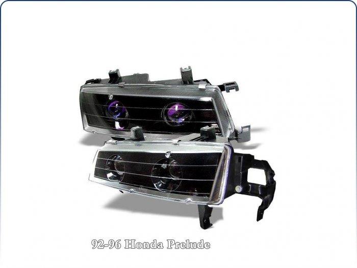 Spyder: 92-96 Honda Prelude Projector Headlights (Black)