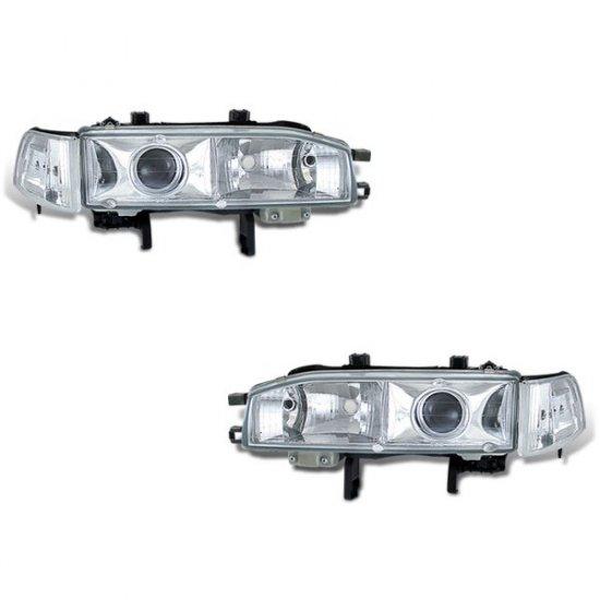 90-93 Honda Accord Projector Headlights (Chrome)