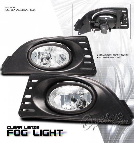 05-07 Acura RSX, Fog Lights (Clear)