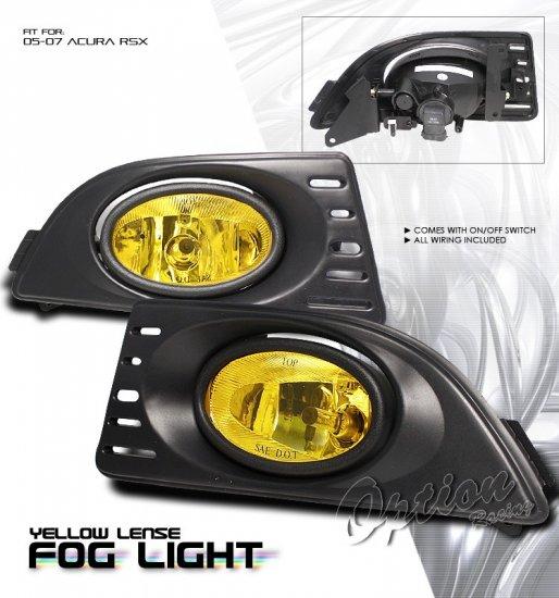 05-07 Acura RSX, Fog Lights (Yellow)