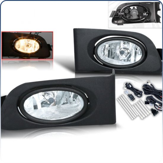 01-03 Honda Civic, Fog Lights (Clear)