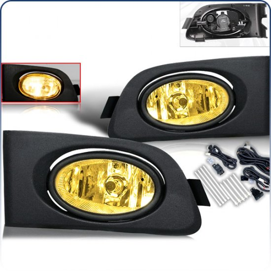 01-03 Honda Civic, Fog Lights (Yellow)