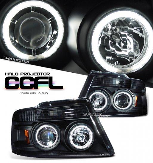 04-08 Ford F150, Projector Headlights, Black CCFL