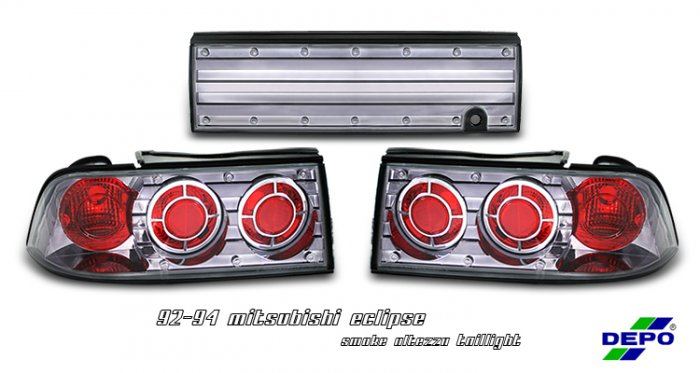 92-94 Mitsubishi Eclipse, Altezza Tail Lights, Smoked