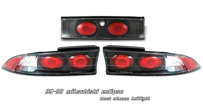 95-99 Mitsubishi Eclipse, Altezza Tail Lights, Black