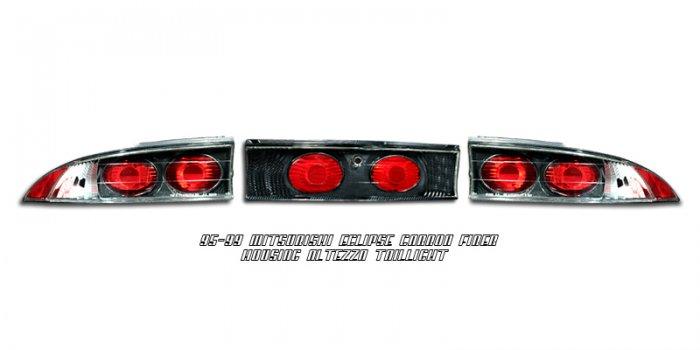 95-99 Mitsubishi Eclipse, Altezza Tail Lights, Carbon Fiber