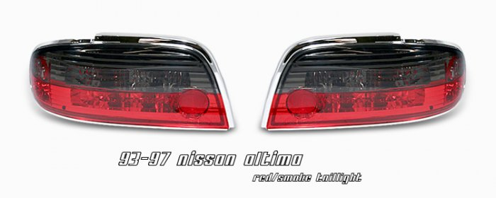 93-97 Nissan Altima, Altezza Tail Lights, Red / Smoked