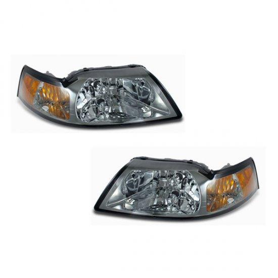 99-04 Ford Mustang, Crystal Headlights, Titanium