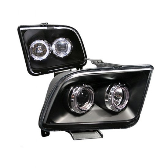 05-09 Ford Mustang, Projector Headlights, Black
