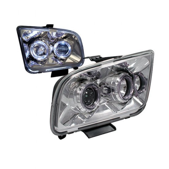 05-09 Ford Mustang, Projector Headlights, Chrome