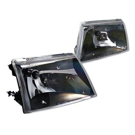 98-01 Ford Ranger, Crystal Headlights, Black