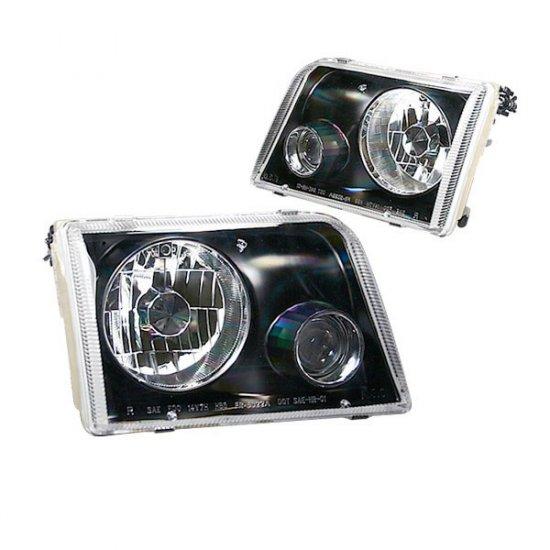 93-97 Ford Ranger, Projector Headlights, Black