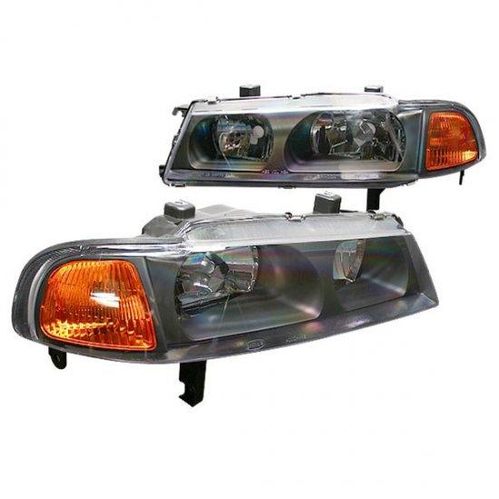 92-96 Honda Prelude, Crystal Headlights (Black)