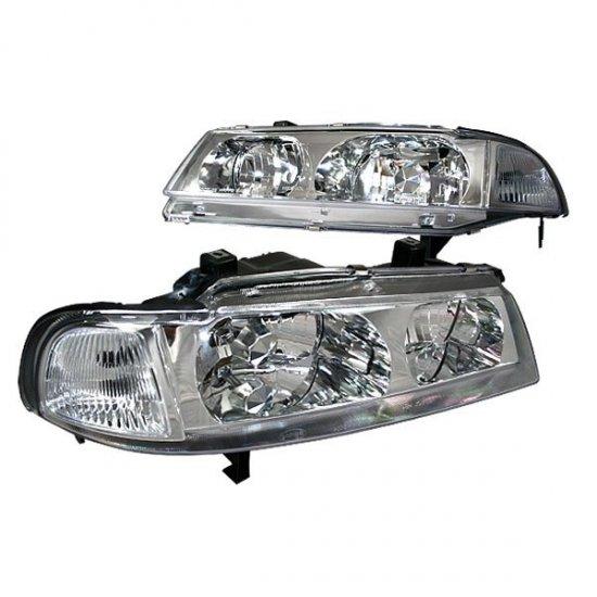 92-96 Honda Prelude, Crystal Headlights (Chrome)