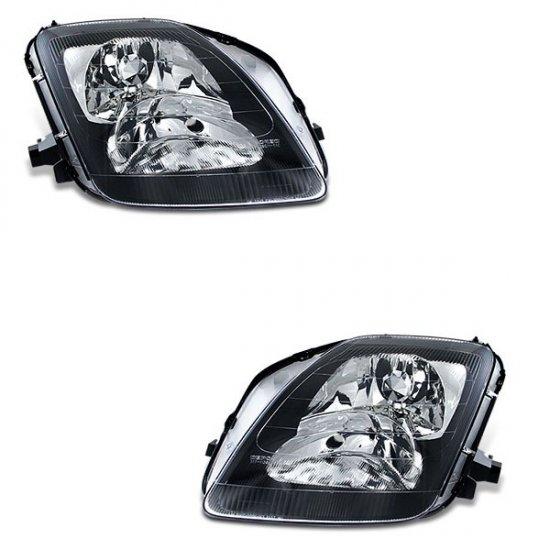 97-01 Honda Prelude, Crystal Headlights (Black)