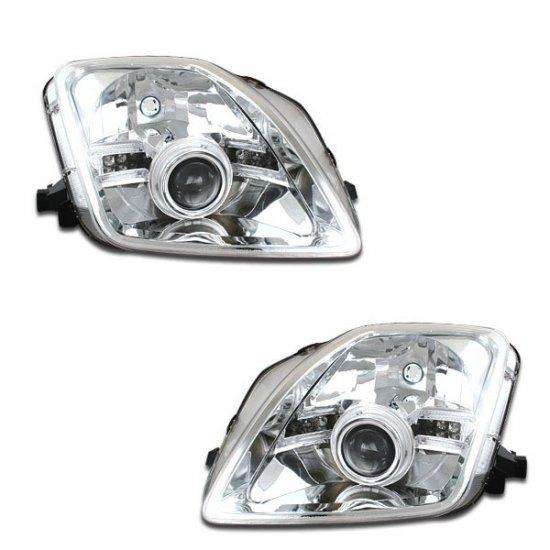 97-01 Honda Prelude, Projector Headlights (Chrome)
