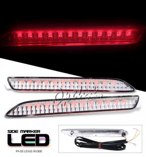 99-03 Lexus RX300, LED Side Markers, Chrome