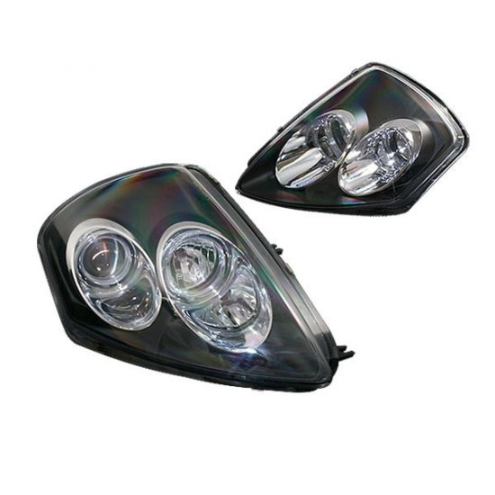 00-05 Mitsubishi Eclipse Projector Headlights (Black)