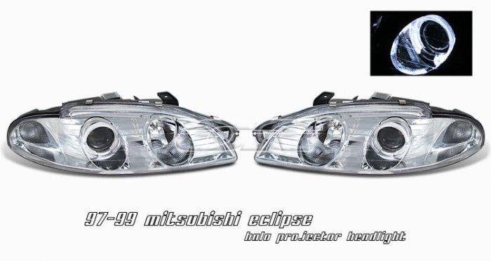 97-99 Mitsubishi Eclipse Projector Headlights (Chrome)