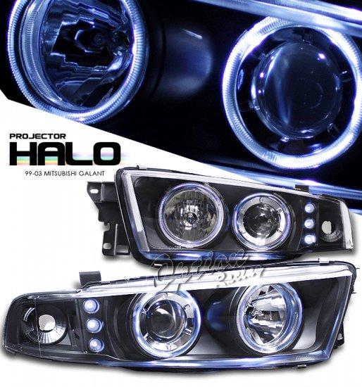 99-03 Mitsubishi Galant, Projector Headlights (Black)