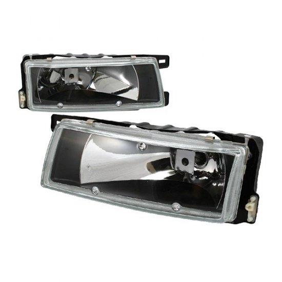 89-94 Nissan Maxima, Crystal Headlights (Black)