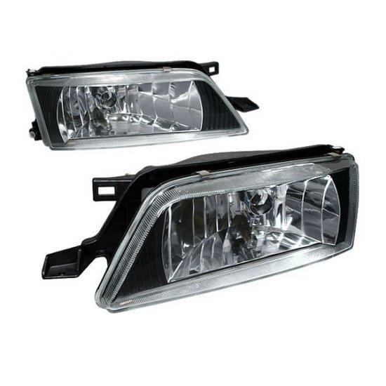 95-99 Nissan Maxima, Crystal Headlights (Black)