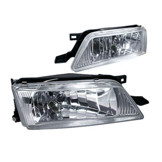95-99 Nissan Maxima, Crystal Headlights (Chrome)