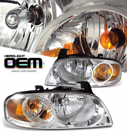 04-06 Nissan Sentra, Crystal Headlights (Chrome)