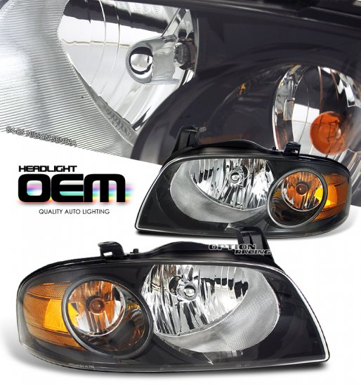 04-06 Nissan Sentra, Crystal Headlights (Black)