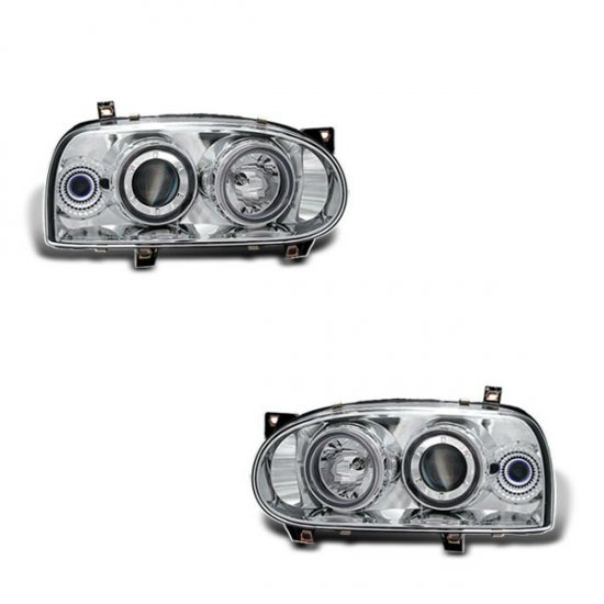 93-98 VW Golf Mk3, Projector Headlights (Chrome)