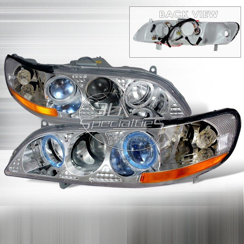 Spec-D: 98-02 Honda Accord, Projector Headlights, Chrome