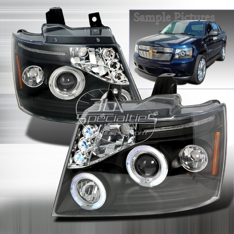 Spec-D: 07-10 Chevy Avalanche, Projector Headlights, Black