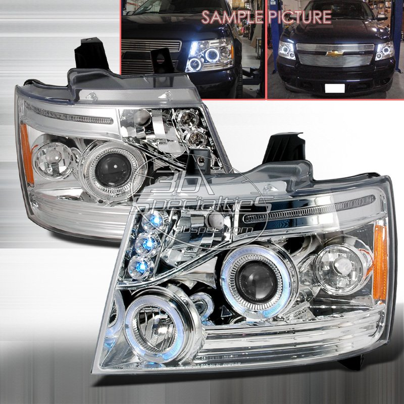 Spec-D: 07-10 Chevy Avalanche, Projector Headlights, Chrome