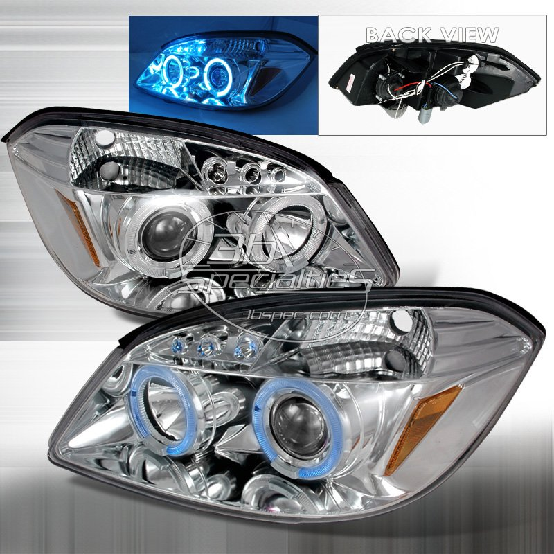 Spec-D: 05-10 Chevy Cobalt; Projector Headlights, Chrome