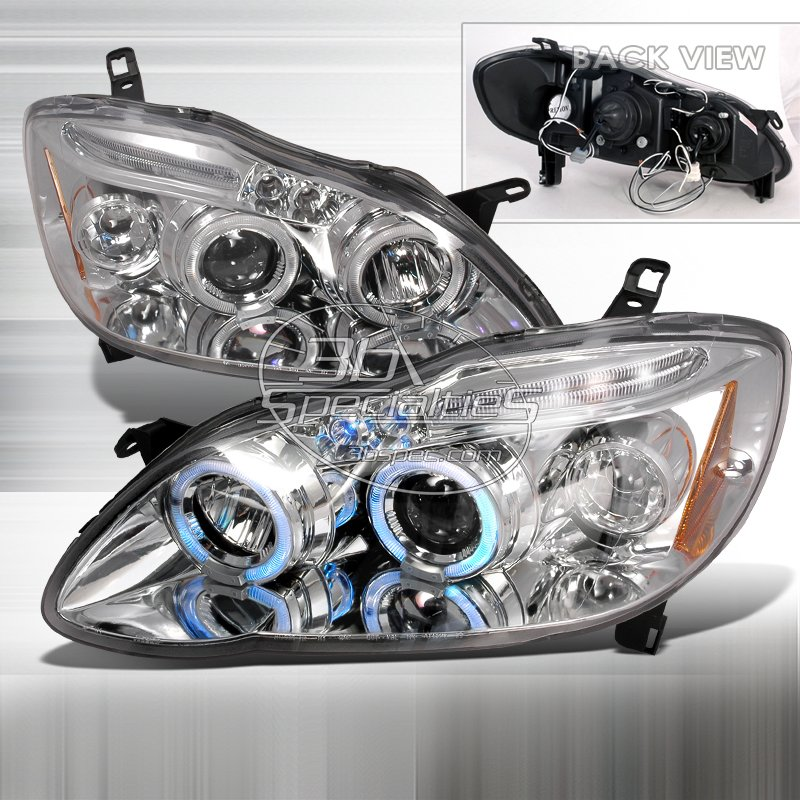 Spec-D: 03-08 Toyota Corolla, Projector Headlights, Chrome