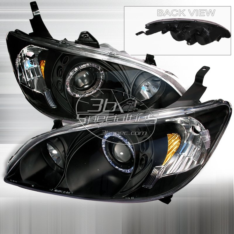 Spec-D: 04-05 Honda Civic, Projector Headlights (Black)