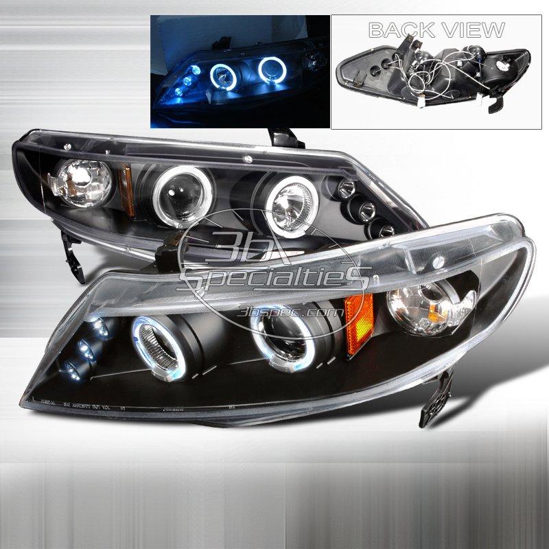 Spec-D: 06-11 Honda Civic 4Dr, Projector Headlights (Black)