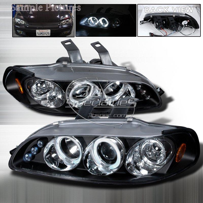 Spec-D: 92-95 Honda Civic 2Dr/3Dr, Projector Headlights (Black)