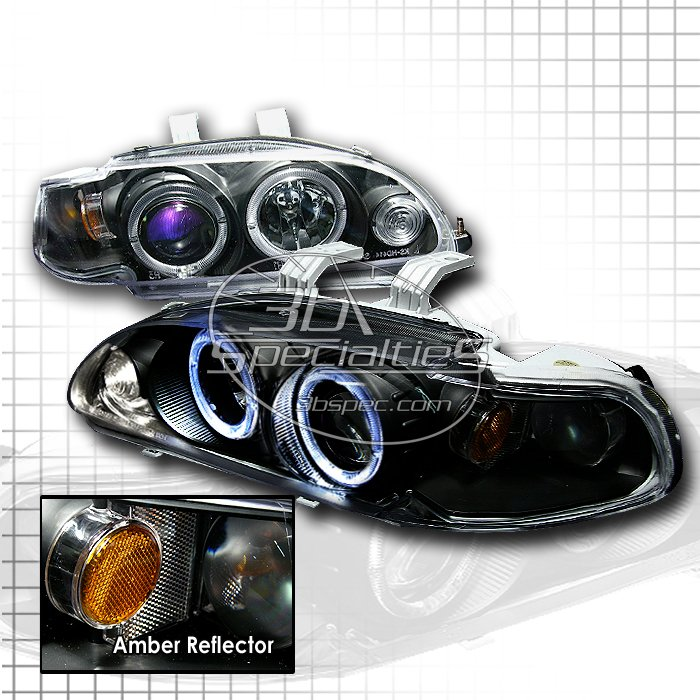 Spec-D: 92-95 Honda Civic 4Dr, Projector Headlights (Black)