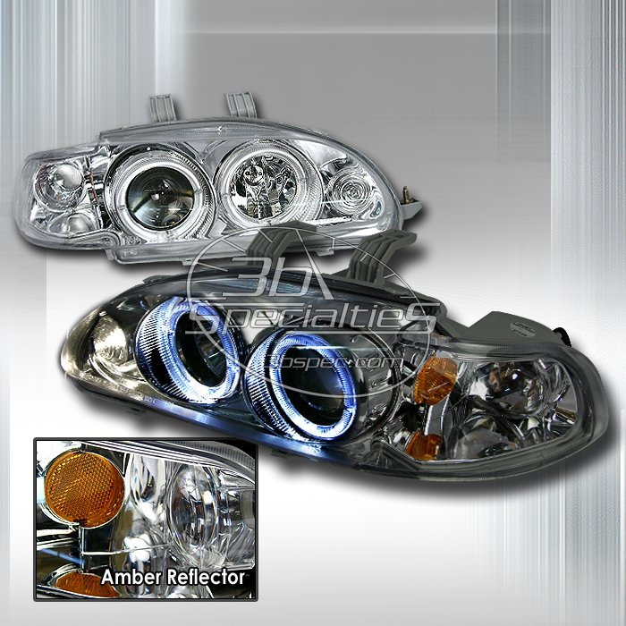 Spec-D: 92-95 Honda Civic 4Dr, Projector Headlights (Chrome)
