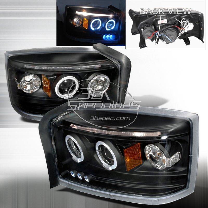 Spec-D: 05-07 Dodge Dakota; Projector Headlights (Black)