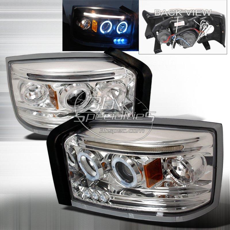 Spec-D: 05-07 Dodge Dakota; Projector Headlights (Chrome)