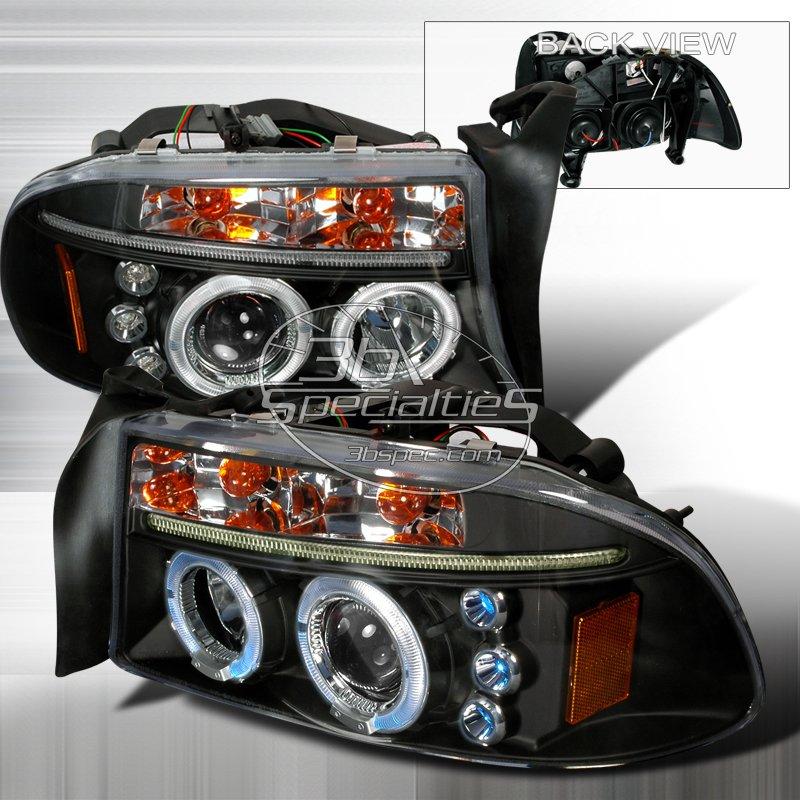 Spec-D: 97-04 Dodge Dakota; Projector Headlights (Black)