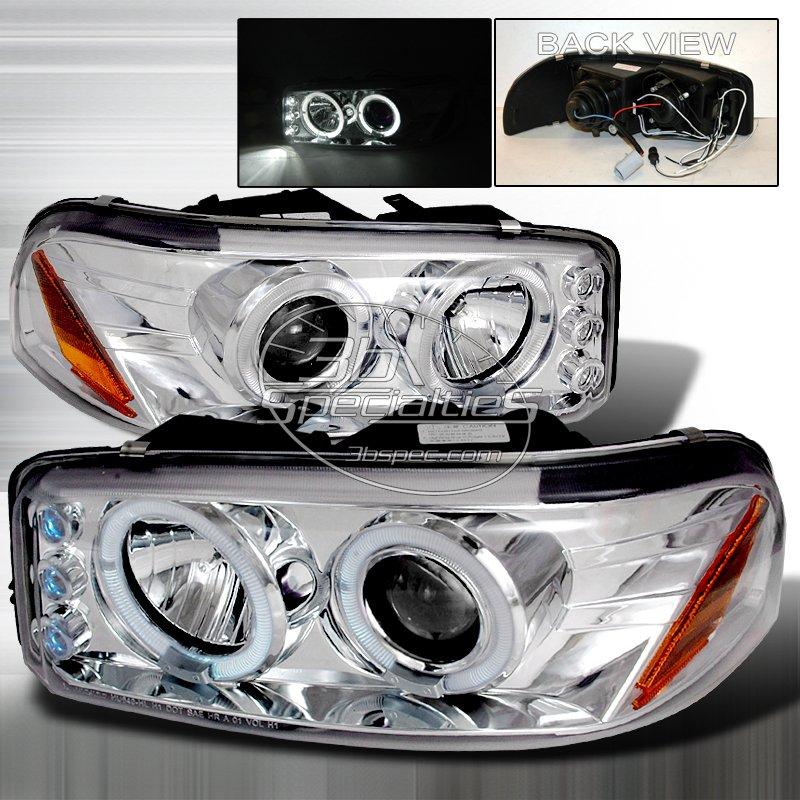 Spec-D: 00-06 GMC Sierra; Projector Headlights (Chrome)